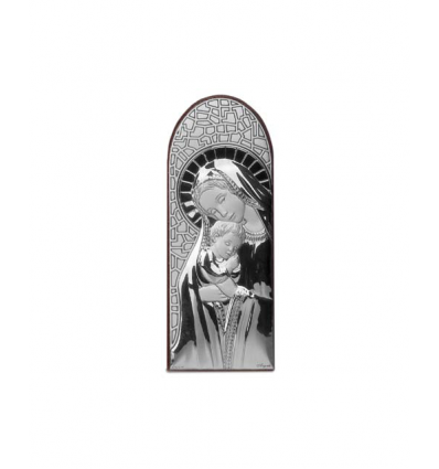 Icoana pe foita de argint cu Maica Domnului (6.5 x 2.5 cm)