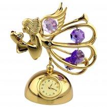 Ingeras cu cristale Swarovski pe suport cu ceas