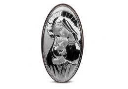 Icoana pe foita de argint cu Maica Domnului si Pruncul (21 x 12 cm)