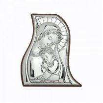 Icoana pe foita de argint - Marturie botez (5 x 4 cm)
