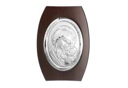 Icoana argintata pe lemn 15x11 cm