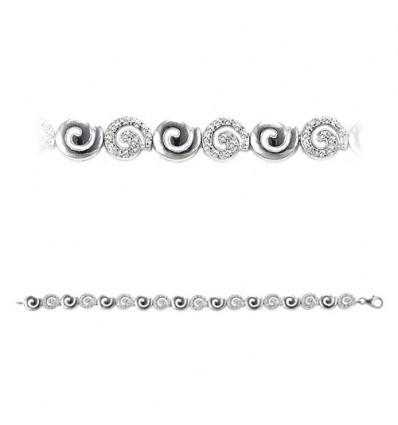 Bratara din melcisori de argint cu cristale - PARURE Milano