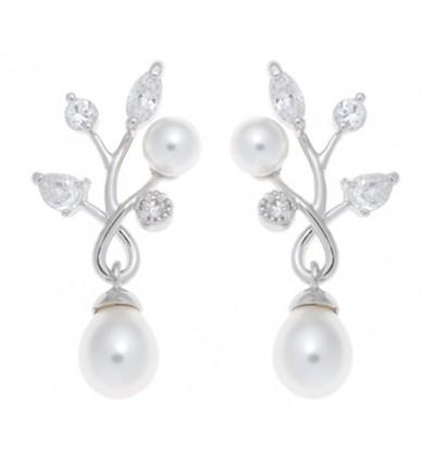 Cercei cu perle si cristale Swarovski - PARURE Milano