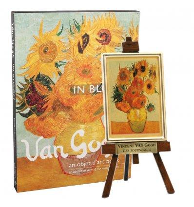 """""""Floarea Soarelui"""" de Vincent Van Gogh - pe foita de aur si album cu tablourile artistului"""