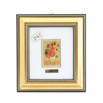"""Tablou """"Floarea Soarelui"""" Vincent Van Gogh - pe foita de aur de 23 Kt."""