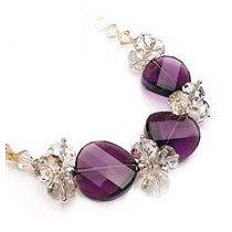 Colier cu cristale Swarovski albe si violet
