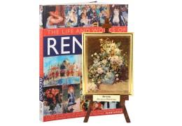 "Tablou pe sevalet Renoir - Bouquet printanier - pe foita de aur de 23Kt si ""Viata si operele lui Renoir"" - album de arta"
