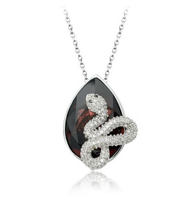 """White snake"" - Colier cu cristale Swarovski"