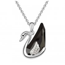 Silver swan - Colier lebada cu cristale