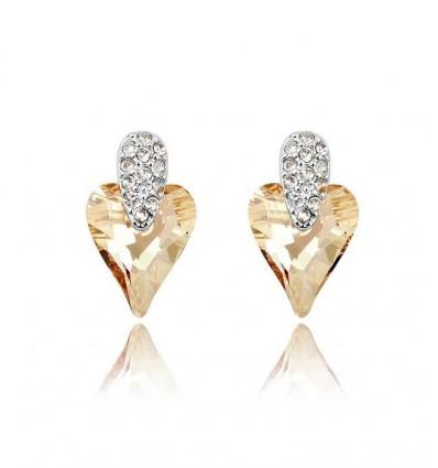 Lovely  - Cercei cu cristale austriece topaz