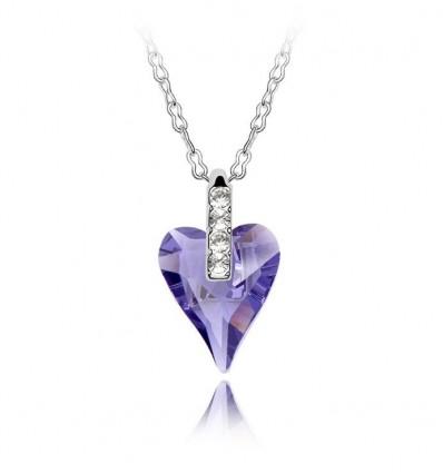 Lovely  - Colier cu cristale austriece violet