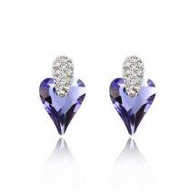 Lovely  - Cercei cu cristale austriece violet