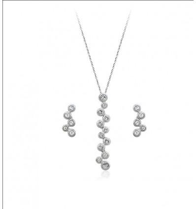 Delicate sparkle  - Colier si cercei cu cristale austriece