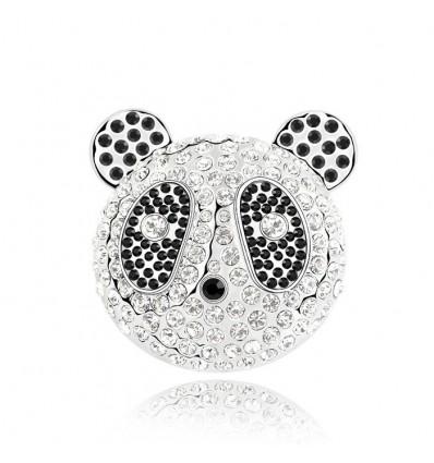 """""""Panda"""" - Brosa cu cristale Swarovski"""