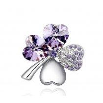 """Brosa """"Trifoi"""" - decorata cu cristale austriece"""