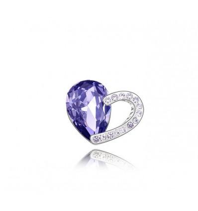 Purple glow - brosa cu cristale austriece violet