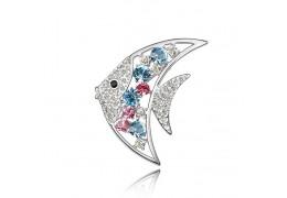 Moonfish - Brosa cu cristale austriece multicolore
