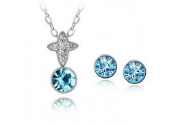 Ciel - Set de colier si cercei cu cristale austriece
