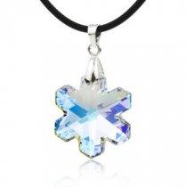 Winter star - pandant din argint cu cristal Swarovski