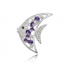 Moonfish - Brosa cu cristale austriece violet