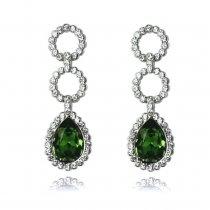Cercei cu cristale Swarovski PARURE Milano Green Drops