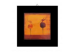 Doua dansatoare - Tablou  pe rama wenge
