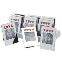 Valentine's Day Surprise - Set de 12 rame foto argintate pentru indragostiti