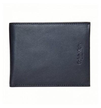Portofel din piele naturala neagra - Calvin Klein