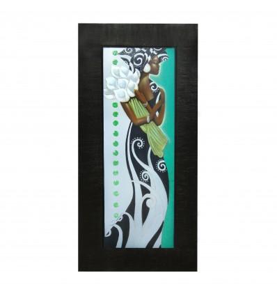 Negresa - tablou pe rama wenghe