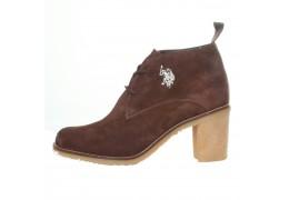 Pantofi piele intoarsa maro U.S. Polo