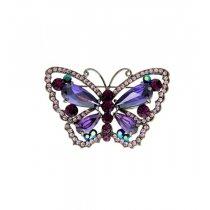 Brosa fluturas cu cristale Swarovski violet