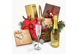 Luxury Golden Gift Basket