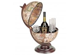 Suport pentru bauturi in forma de glob pamantesc, model pe alb