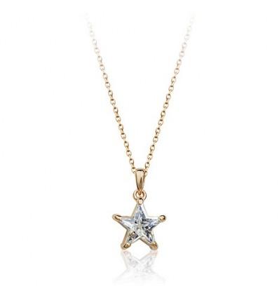 Shining Star - colier placat cu aur