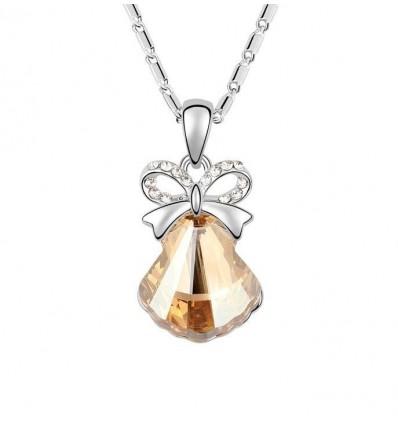 Jingle Bell Amber - colier placat cu platina decorat cu cristale Swarovski