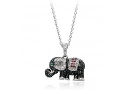 Topsy - colier cu elefantel decorat cu cristale
