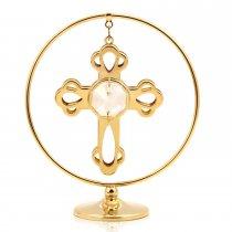 Cruciulita cu cristale Swarovski, placata cu aur