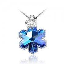 Colier Fulg de nea din argint cu cristale Swarovski