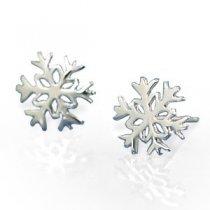 Snowflakes - cercei din argint