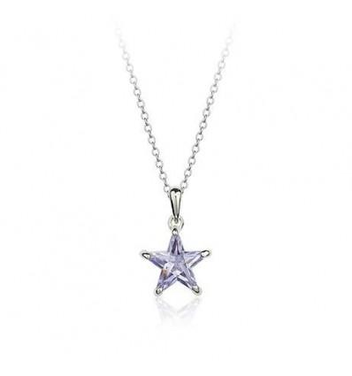 Colier Crystal Shining Star - Violet