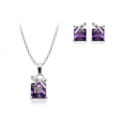 Luxury Gifts - Set colier si cercei cu cristale Swarovski