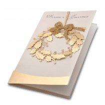 Felicitare de Craciun handmade cu folio