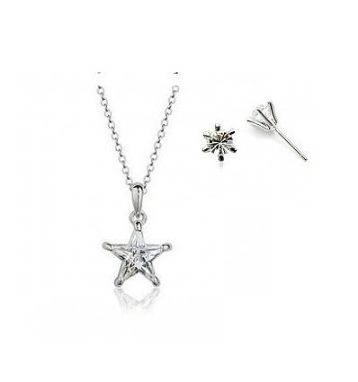 Winter Stars - Set de colier si cercei cu cristale Swarovski