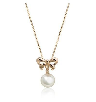 Pearl Ribbon - colier placat cu aur
