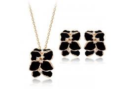 Elegance - set de cercei si colier placate cu aur