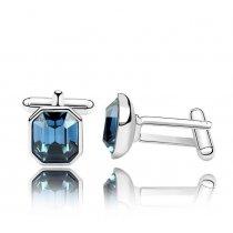 Butoni placati cu platina, cu cristale Swarovski