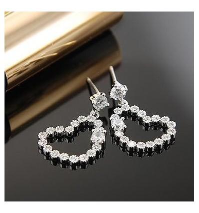 Diamond Heart - Cercei din argint