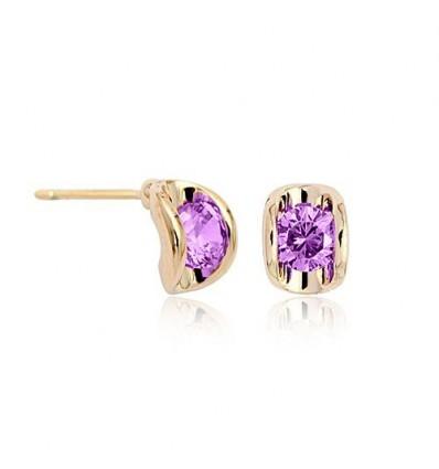 Cercei cu cristale violet