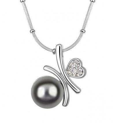Love Pearl - Colier cu perla si cristale austriece