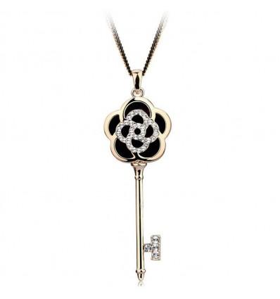 The Key  - Colier cheita cu cristale austriece